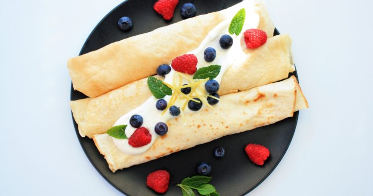 Cottage Cheese Pancakes with Fruits