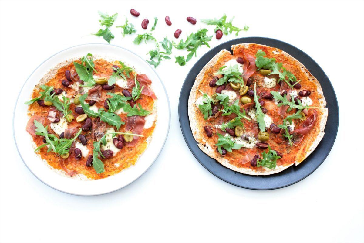 Easy Tortilla Pizza with Parma Ham